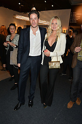 BLAISE PATRICK and MARISSA MONTGOMERY at the PAD London 2015 VIP evening held in the PAD Pavilion, Berkeley Square, London on 12th October 2015.