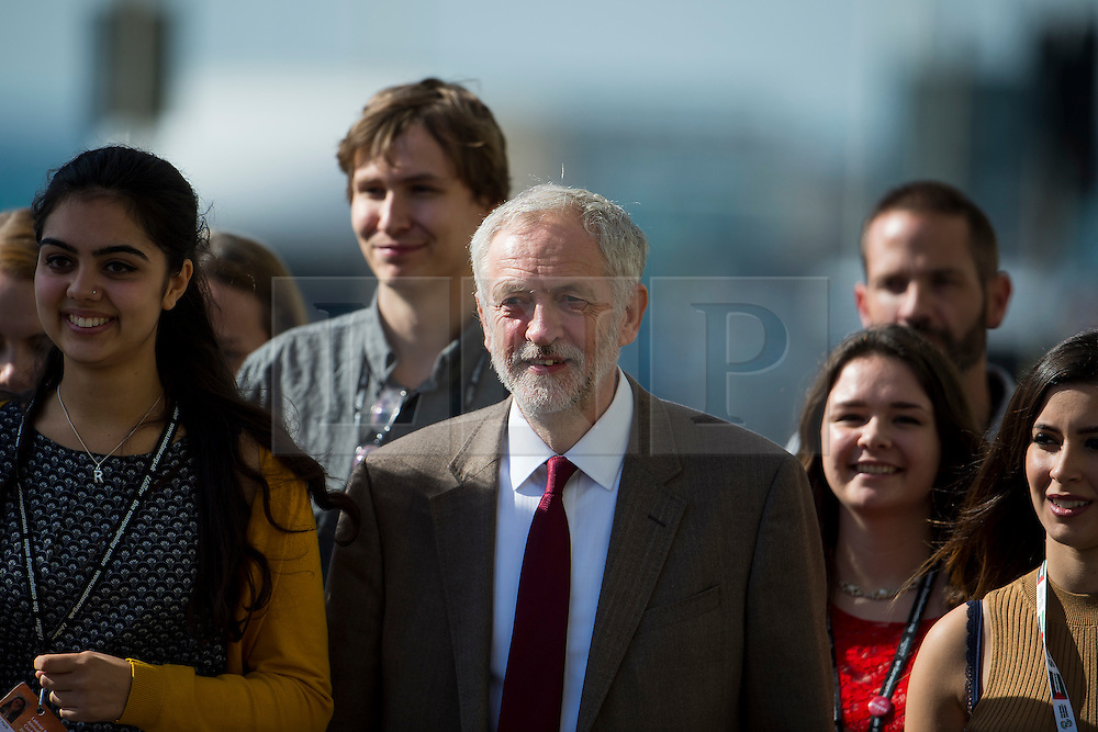© Licensed to London News Pictures. 29/09/2015. Brighton, UK. Labour party leader JEREMY CORBYN arriving before delivering his leaders speech on day three of the 2015 Labour Party Conference, held at the Brighton Centre in Brighton, East Sussex.  Photo credit: Ben Cawthra/LNP