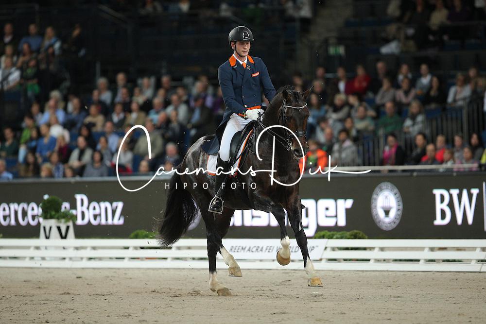 Van Silfhout Diederick, (NED), Arlando<br /> Grand Prix Kür<br /> Reem Acra FEI World Cup Dressage<br /> Stuttgart - German Masters 2015<br /> © Hippo Foto - Stefan Lafrentz