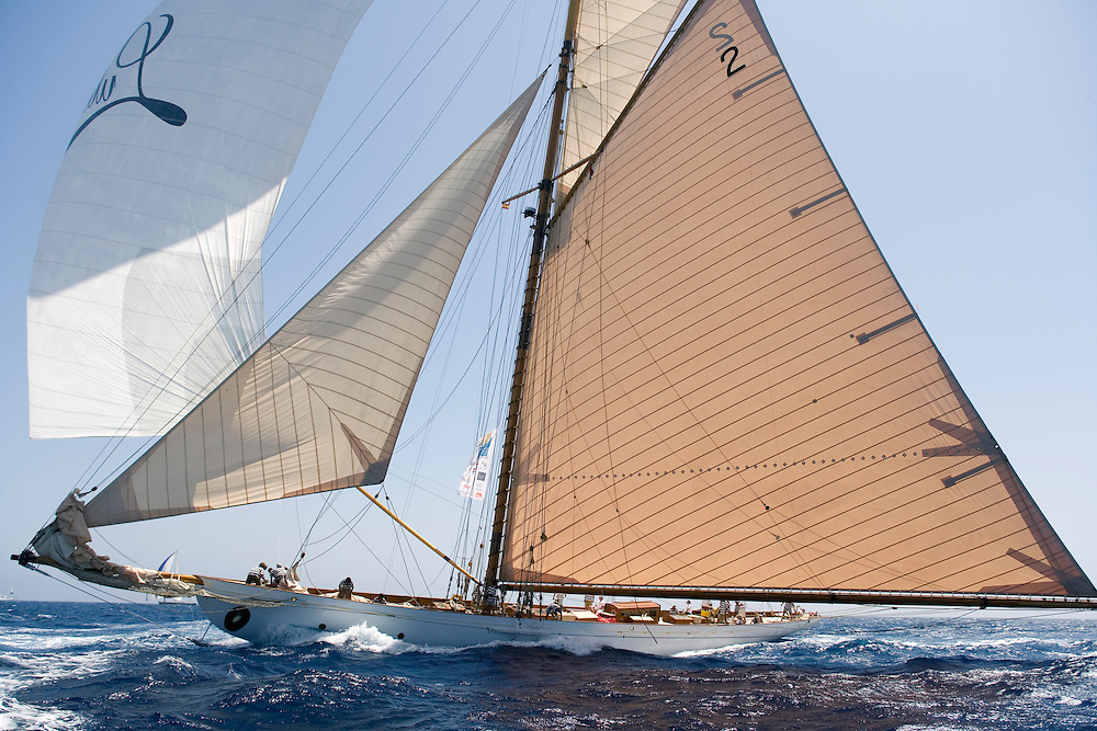 "Valencia/Spain/THE SUPERYACHT CUP PALMA 2007/19JUN07. New Zealand Millennuim Cup day. ""Lulworth"", is the sole survivor of the legendary Big Five, which included the King's yacht Britannia, Westward, White Heather II and Shamrock. Lulworth is the oldest boat (1920) in this regatta."