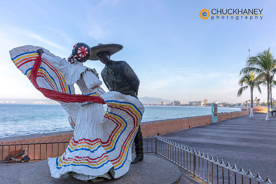 Bailarines de Vallarta sculpture along the Malecon in Puerto Vallarta, Mexico