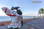 Bailarines de Vallarta sculpture along the Malecon in Puerto Vallarta, Mexico