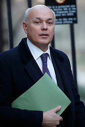 © licensed to London News Pictures. London, UK 14/01/2014. Work & Pensions Secretary, Iain Duncan Smith attending to a cabinet meeting on Downing Street on Tuesday, 14 January 2014. Photo credit: Tolga Akmen/LNP