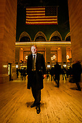 CEO of the Norwegian Bank DNB, Rune Bjerke in Grand Central Station in New York
