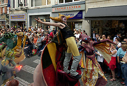 BRUSSELS, BELGIUM - MAY-13-2006 - The Zinneke parade winds through the streets of downtown Brussels. The parade is part of the Brussels City Festival annual celebration. (Photo © Jock Fistick)