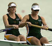 2003 - FISA World Cup Rowing Milan Italy.30/05/2003  - Photo Peter Spurrier.RSA W2- Bow, Colleen ORSMOND and Rika GEYSER. [Mandatory Credit: Peter Spurrier:Intersport Images]