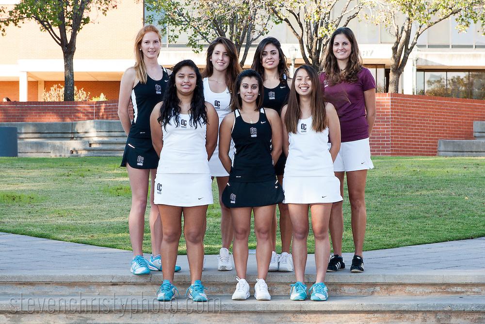 OC Women's Tennis Team and Individuals.2012-2013 Season