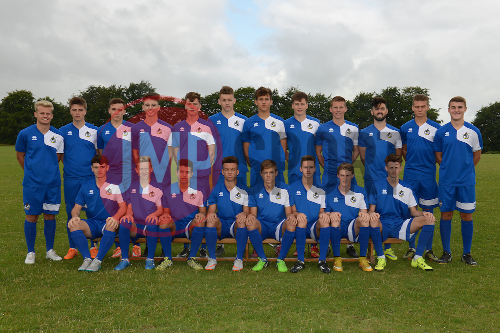 Bristol Rovers U18s Team Photo - Mandatory by-line: Dougie Allward/JMP - 07966386802 - 27/07/2015 - SPORT - FOOTBALL - Bristol,England - Golden Hill Training Centre - Bristol Rovers U18 Team Photo - Bristol Rovers U18 Team Photo