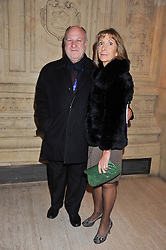 HARVEY GOLDSMITH and his wife DIANE at Cirque du Soleil's VIP night of Kooza held at the Royal Albert Hall, London on 8th January 2013.
