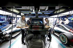 August 31, 2018 - Monza, Italy - Motorsports: FIA Formula One World Championship 2018, Grand Prix of Italy, .Garage of Mercedes AMG Petronas Motorsport, Tony Ross, Peter Bonnington  (Credit Image: © Hoch Zwei via ZUMA Wire)