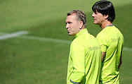 Head coach Joachim Loew (right) and goalkeeper coach Andreas Koepke of Germany pictured during training at Stadio Communale, Ascona, Switzerland.<br /> Picture by EXPA Pictures/Focus Images Ltd 07814482222<br /> 25/05/2016<br /> ***UK &amp; IRELAND ONLY***<br /> EXPA-EIB-160525-0003.JPG