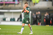 Matthew Kennedy (16) of Plymouth Argyle applauds the home fans at full time after Plymouth won 2-0 during the EFL Sky Bet League 2 match between Plymouth Argyle and Carlisle United at Home Park, Plymouth, England on 4 March 2017. Photo by Graham Hunt.