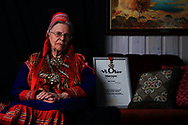 Retired school principal Edel Hætta Eriksen, oldest resident of Kautokeino at 97, fought for speaking Sami in public schools and was the first Sami to receive the King Olav award, Norway's highest honor.