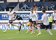 Kane Hemmings fires in a shot - Raith Rovers v Dundee, pre-season friendly at Starks Park<br /> <br />  - &copy; David Young - www.davidyoungphoto.co.uk - email: davidyoungphoto@gmail.com