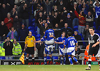 Photo: Ashley Pickering.<br />Ipswich Town v Swansea City. The FA Cup. 27/01/2007.<br />Ipswich's Alan Lee (L) celebrates his goal with team mates