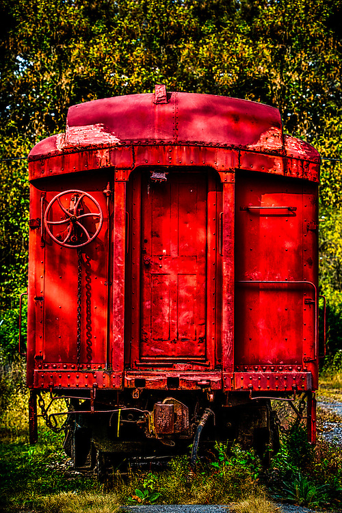 Retired Red Caboose in Pennsylvania