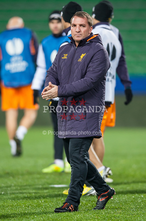 05.12.2012, Stadio Friuli, Udine, ITA, UEFA EL, Udinese Calcio vs FC Liverpool, Gruppe A, Training, FC Liverpool, im Bild Brendan Rodgers (Trainer, Liverpool FC) // Brendan Rodgers (Trainer, Liverpool FC) during Training of Liverpool FC before the UEFA Europa League group A match between Udinese Calcio and Liverpool .FC at the Stadio Friuli, Udinese, Italy on 2012/12/05. EXPA Pictures © 2012, PhotoCredit: EXPA/ Juergen Feichter