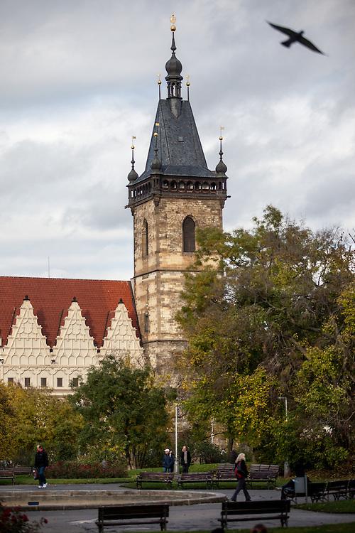 Das Neustaedter Rathaus vom Karlovo Namesti aus gesehen.