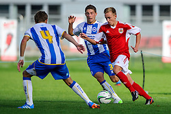Harvey Moss of Bristol City U18 in action - Photo mandatory by-line: Rogan Thomson/JMP - Tel: 07966 386802 - 05/10/2013 - SPORT - FOOTBALL - SGS Wise Campus, Bristol - Bristol City U18 v Brighton & Hove Albion U18 - U18 Professional Development League 2.