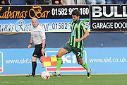 George Francomb of AFC Wimbledon during the Sky Bet League 2 match between Luton Town and AFC Wimbledon at Kenilworth Road, Luton, England on 26 September 2015. Photo by Stuart Butcher.