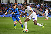 Coventry City forward Bright Enobakhare (24) shapes up to shoot during the EFL Sky Bet League 1 match between Peterborough United and Coventry City at London Road, Peterborough, England on 16 March 2019.