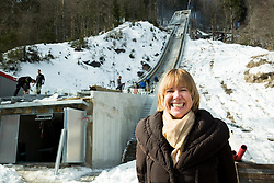 Alenka Smrkolj during tour of  Flying hill's  reconstruction in Planica, on February 16, 2015 in Planica, Slovenia. Photo by Vid Ponikvar / Sportida