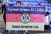 German FGR supporters Club during the EFL Sky Bet League 2 match between Macclesfield Town and Forest Green Rovers at Moss Rose, Macclesfield, United Kingdom on 29 September 2018.