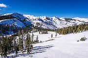 Alpine Meadows ski area, Squaw Valley, California