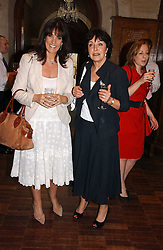 Left to right, GAIL REBUCK (Mrs  Philip Gould) chairman of Random House UK Ltd and VIVIENNE SCHUSTER at a party to celebrate the publication of Wicked - A Tale of Two Schools by Jilly Cooper held at Westminster School, Dean's Yard, London on 11th May 2006.<br />