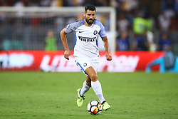 August 26, 2017 - Rome, Italy - Antonio Candreva of Internazionale  during the Serie A match between AS Roma and FC Internazionale at Olimpico Stadium in Rome, Italy, on August 26, 2017. (Credit Image: © Matteo Ciambelli/NurPhoto via ZUMA Press)