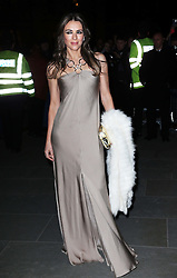 Elizabeth Hurley arriving at the Portrait Gala 2014: Collecting to Inspire charity event at the National Portrait Gallery in  London, Tuesday, 11th February 2014. Picture by Stephen Lock / i-Images