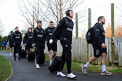 Ruaridh McConnochie and the rest of the Bath Rugby team arrive at the Kingspan Stadium - Mandatory byline: Patrick Khachfe/JMP - 07966 386802 - 18/01/2020 - RUGBY UNION - Kingspan Stadium - Belfast, Northern Ireland - Ulster Rugby v Bath Rugby - Heineken Champions Cup