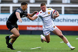 Joe Snow of Exeter Braves takes on Adam Radwan of Newcastle Falcons A-Team - Mandatory by-line: Robbie Stephenson/JMP - 06/05/2019 - RUGBY - Kingston Park Stadium - Newcastle upon Tyne, England - Newcastle Falcons 'A' v Exeter Braves - Premiership Rugby Shield Semi-Final