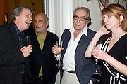 TONY ELLIOT; ALAN YENTOB; GERALD SCARFE; JANE ASHER, Party for Perfect Lives by Polly Sampson. The 20th Century Theatre. Westbourne Gro. London W11. 2 November 2010. -DO NOT ARCHIVE-© Copyright Photograph by Dafydd Jones. 248 Clapham Rd. London SW9 0PZ. Tel 0207 820 0771. www.dafjones.com.