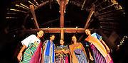 Elder women inside a traditional home in Todo Village, Manggarai, Flores.