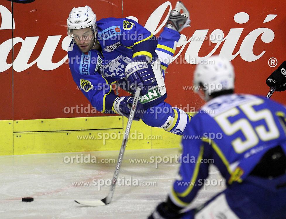 28.02.2010, Dom sportova, Zagreb, CRO, EBEL, KHL Medvescak Zagreb vs Graz 99ers, im Bild Powers Cristopher. EXPA Pictures © 2010, PhotoCredit: EXPA/ PIXSELL / SPORTIDA PHOTO AGENCY