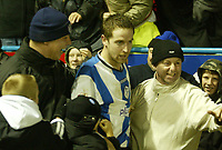 Photo: Aidan Ellis.<br /> Sheffield Wednesday v Manchester City. The FA Cup. 07/01/2007.<br /> Wednesday's Steven McLean is mobbed by fans after scoring the eqauliser