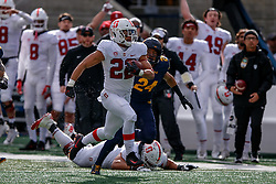 BERKELEY, CA - DECEMBER 01: Running back Cameron Scarlett #22 of the Stanford Cardinal rushes up field for a touchdown against the California Golden Bears during the first quarter at California Memorial Stadium on December 1, 2018 in Berkeley, California. (Photo by Jason O. Watson/Getty Images) *** Local Caption *** Cameron Scarlett