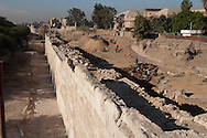 Egypt. Cairo - the old fatimid walls and Salah li din walls,  IFAO search . Islamic Cairo  Egypt  with the help of  Aga Khan foundation +
