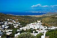 Grèce, Mer Egée, Cyclades, iles grecques, Ile de Paros, village traditionnel de Lefkes // Greece, Cyclades Islands, Greek Islands, Aegean Sea, Paros, Lefkes, traditionnal village