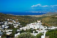 Grèce, Mer Egée, Cyclades, iles grecques, Ile de Paros, village traditionnel de Lefkes // Greece, Cyclades Islands, Greek Islands, Aegean Sea, Paros, Lefkes, traditionnal village