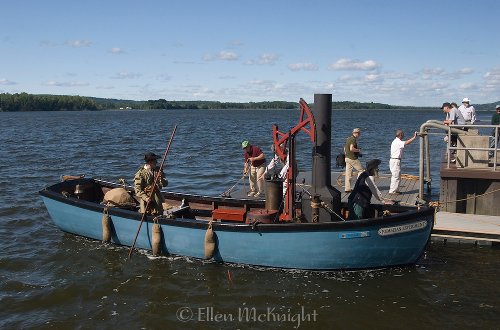Replica of James Rumsey's 1787 Steamboat on the Hudson River in Germantown, New York