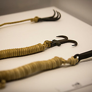 "TOKYO, JAPAN - JULY 2 : A ninja's weapon on display during a ninja exhibition that kicks off Saturday at Miraikan in Tokyo, Japan on July 2, 2016. A special exhibition entitled ""The Ninja- who were they?"" will be open from July 2 (Saturday), 2016 to October 10 (Monday) 2016 at the Miraikan (National Museum of Emerging Science and Innovation). Photo: Richard Atrero de Guzman"
