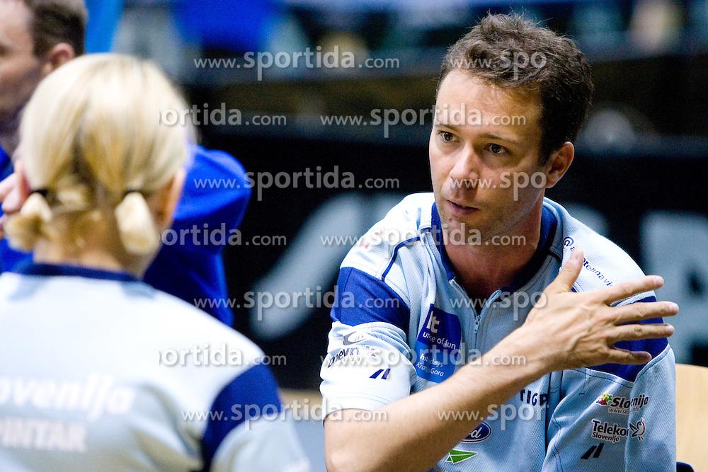 Mateja Pintar of Slovenia and her coach Gregor Skafar at 7th Slovenia Open - Thermana Lasko 2010 Table Tennis Championships for the Disabled Factor 40, on May 6, 2010, in Dvorana Tri Lilije,  Lasko, Slovenia.  (Photo by Vid Ponikvar / Sportida)