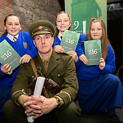 08/12/2015                <br /> Limerick City & County Council launches Ireland 2016 Centenary Programme<br /> <br /> An extensive programme of events across the seven programme strands of the Ireland 2016 Centenary Programme was launched at the Granary Library, Michael Street, Limerick, last night (Monday, 7 December 2015) by Cllr. Liam Galvin, Mayor of the City and County of Limerick.<br /> <br /> Led by Limerick City & County Council and under the guidance of the local 1916 Co-ordinator, the programme is the outcome of consultations with interested local groups, organisations and individuals who were invited to participate in the planning and implementation of events and initiatives during 2016.  <br /> <br /> Pictured at the event were, Laura McNamara, Rebecca Murphy and Kaitlin McNamara with actor Mike Finn. Picture: Alan Place
