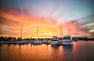 Sunset in a Florida Marina