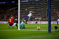 LONDON, ENGLAND - Sunday, January 13, 2019: Tottenham Hotspur's Harry Kane puts the ball in the net but his goal is disallowed for off-side during the FA Premier League match between Tottenham Hotspur FC and Manchester United FC at Wembley Stadium. (Pic by David Rawcliffe/Propaganda)