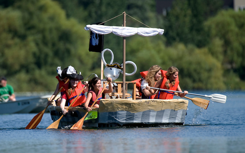 Seafair's annual Milk Carton Derby brings together water, fun and sunshine as contestants build boats made from milk cartons and compete for prizes not only based on speed, but also creativity and originality.