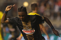 July 26, 2017 - Chester, PA, United States of America - Philadelphia Union Midfielder MARCUS EPPS (20) celebrates a goal in the second half of a Major League Soccer match between the Philadelphia Union and Columbus Crew SC Wednesday, July. 26, 2017, at Talen Energy Stadium in Chester, PA. (Credit Image: © Saquan Stimpson via ZUMA Wire)