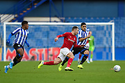 Andreas Weimann of Bristol City FC chases a loose ball during the EFL Sky Bet Championship match between Sheffield Wednesday and Bristol City at Hillsborough, Sheffield, England on 22 December 2019.